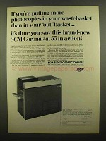 1965 SCM Coronastat 55 Copier Ad - In Wastebasket