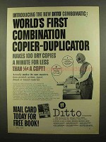 1965 Ditto Combomatic Copier Ad - First Combination