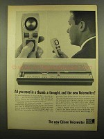 1965 Edison Voicewriter Ad - All You need is a Thumb