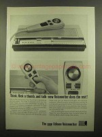 1965 Edison Voicewriter Ad - Think, Flick a Thumb, Talk