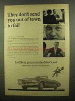 1965 Hertz Rent-A-Car Ad - Don't Send You Out of Town