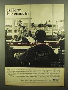 1965 Hertz Rent-A-Car Ad - Big Enough?