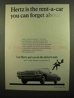 1965 Hertz Rent-A-Car Ad - You Can Forget About