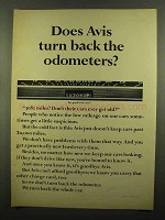 1965 Avis Rent-A-Car Ad - Turn Back the Odometers