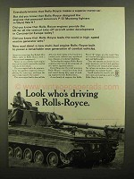1965 Rolls-Royce Ad - FV.433 Abbot Self-propelled Gun