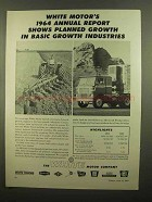 1965 White Motor Company Ad - Basic Growth Industries