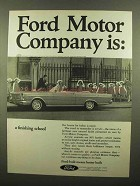 1965 Ford Motor Company Ad - a Finishing School