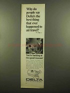 1965 Delta Airlines Ad - Best Thing Ever to Air Travel