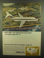 1965 Delta Airlines Ad - New Dimension DC-9