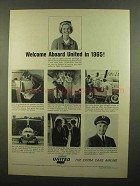 1965 United Airlines Ad - Welcome Aboard United in 1965
