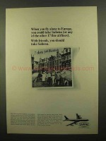 1965 Sabena Airlines Ad - Fly Alone to Europe