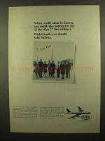 1965 Sabena Airlines Ad - When You Fly Alone to Europe