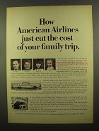 1965 American Airlines Ad - Cut the Cost of Family Trip
