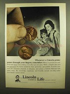 1965 Lincoln National Life Ad - A Lincoln Penny