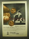 1965 Lincoln National Life Ad - A Penny Passes