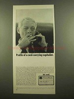 1965 Carte Blanche Card Ad - Card-Carrying Capitalist