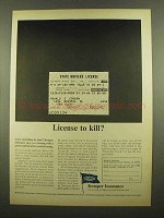 1965 Kemper Insurance Ad - License to Kill?