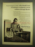 1965 Bache & Co Investment Bank Ad - Should I Care