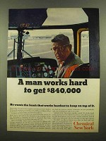 1965 Chemical New York Ad - A Man Works Hard