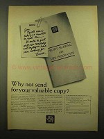 1965 New York Life Ad - Your Valuable Copy