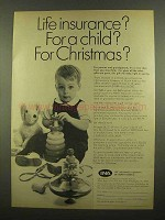 1965 INA Life Insurance company Ad - For A Child?