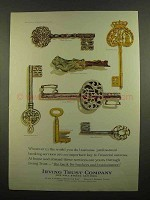 1965 Irving Trust Company Ad - Important Key