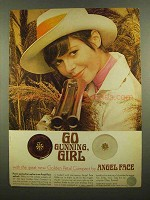 1965 Angel Face Golden Petal Compact Ad - Go Gunning