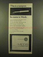 1965 Modess Meds Tampon Ad - This is a Tampon