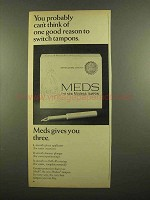 1965 Modess Meds Tampon Ad - Can't Think of Reason