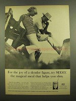 1965 Pet SEGO Diet Food Ad - Joy of a Slender Figure