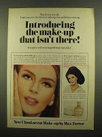 1965 Max Factor UltraLucent Make-Up Ad - Isn't There