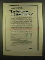 1965 Pfizer Pharmaceuticals Ad - Best Year in History