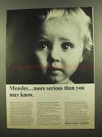 1965 Merck Sharp & Dohme Pharmaceuticals Ad - Measles