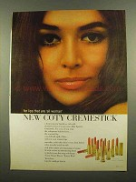 1965 Coty Cremestick Lipstick Ad - Lips Are All Woman