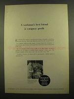 1965 Warner & Swasey Turret Lathe Ad - Workman's Friend