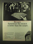 1965 Lee's Carpet Ad - Sometimes Swatch is Better