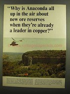 1965 Anaconda Copper Ad - All Up in The Air