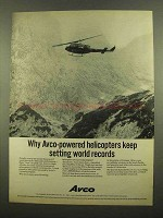 1965 Avco Lycoming T53 Aircraft Turbine Engine Ad