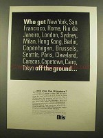 1965 Otis Elevator Ad - Who Got Off The Ground