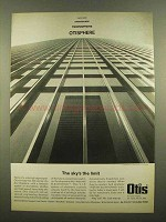1965 Otis Elevator Ad - The Sky's The Limit