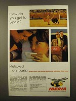 1965 Iberia Air Lines Ad - How Do You Get To Spain?