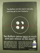 1965 Bufferin Pain Reliever Ad - Look Alike