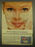 1965 Dove Soap Ad - Take This Simple Face Test