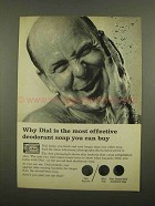 1965 Dial Soap Ad - Most Effective Deodorant Soap