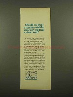 1965 Contac Cold Tablets Ad - Treat a Summer Cold