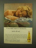 1965 Helene Curtis Tender Touch Bath Oil Ad - All Wet