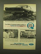 1965 Ford Quality Car Care Service Ad - Builds Quality