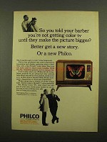 1965 Philco Color TV Ad - So You Told Your Barber