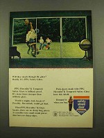1965 PPG Herculite K Tempered Safety Glass Ad - Smash