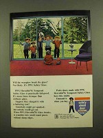 1965 PPG Herculite K Tempered Safety Glass Ad - Break